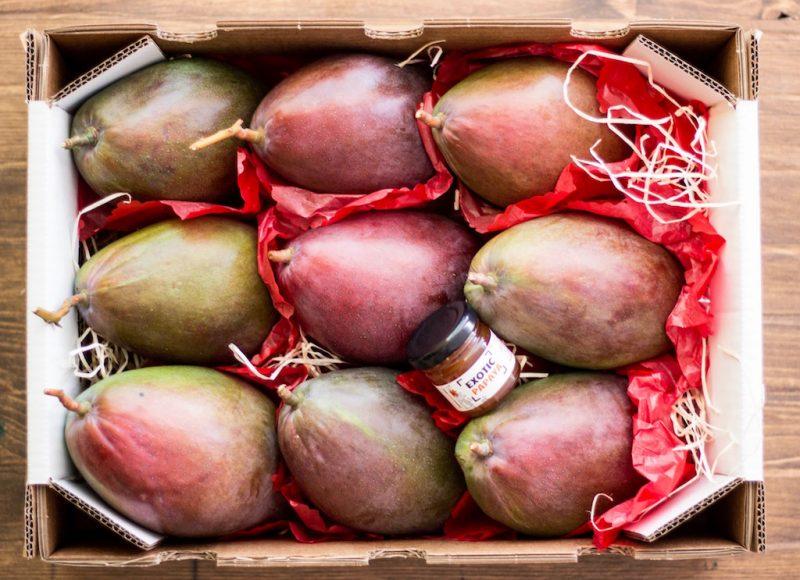 Caja de mangos