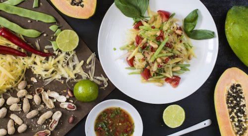 Ensalada tailandesa de papaya verde 1