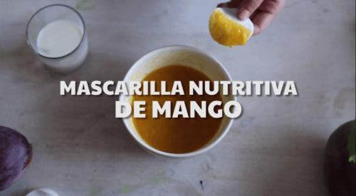 Mascarilla nutritiva de mango