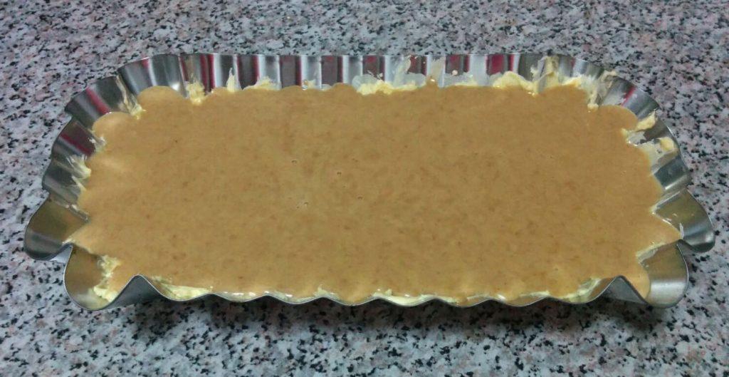 bizcocho de espelta, mango y castañas