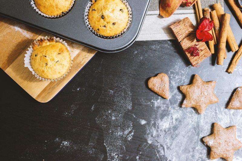 Dinkel Muffins mit Papaya