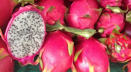 pitaya, vida de color de rosa, exotic fruit box